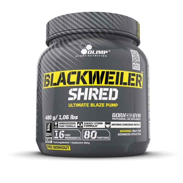 olimp blackweiler shred pre+workout