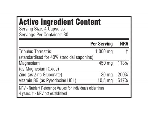nutrition info testoblast